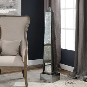 Karlee Mirrored Obelisk by Uttermost