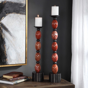 Ishani Candleholders S/2 by Uttermost