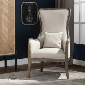 Chenin Accent Chair Stone by Uttermost