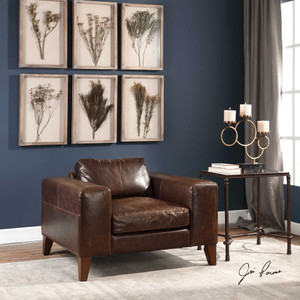 Cormic Leather Lounge Chair by Uttermost