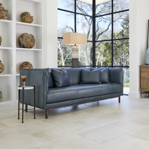 Tindra Leather Sofa by Uttermost