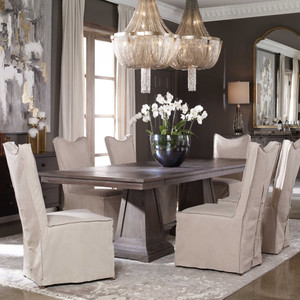 Royce Extension Dining Table 2 cartons by Uttermost