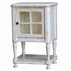 Orleans Side Table with Glass - Size: 84H x 56W x 41D (cm)