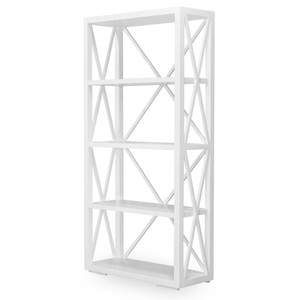 Hamptons Cross Sorrento Bookshelf - White