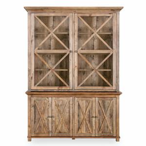 Hamptons Cross Sorrento Display Cabinet 2 Door - Natural