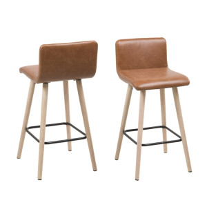 Huxley Counter Chair Brandy Pu by Maison Living