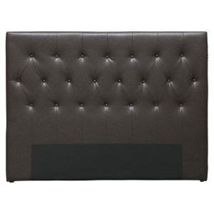 Charlton Tufted Leather Bedhead - Queen by Maison Living