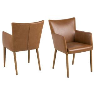 Konrad Leather Carver Chair by Maison Living
