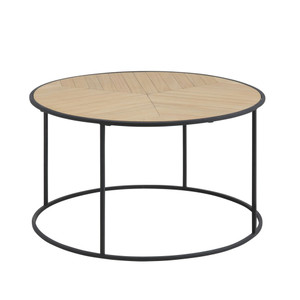 Zakari Parquet Round Coffee Table by Maison Living
