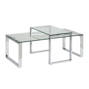 Soho Nested Coffee Table Clear Glass by Maison Living