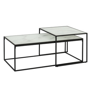 Alpin Marble Print Nested Coffee Table by Maison Living