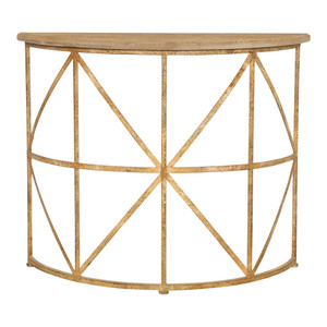 Adina Half Moon Iron Console by Maison Living