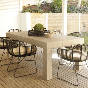 Hayman Grey Washed Dining Table 220cm by Maison Living