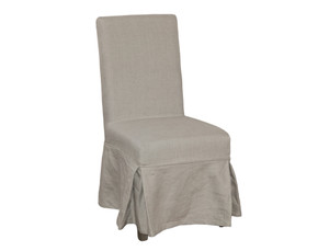 Lyon Dining Chair Cover Loose - Natural Linen by Maison Living