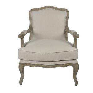 Natural Linen Oakwood Armchair by Maison Living