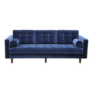 Evita 3 Seat Sofa - Navy Velour by Maison Living