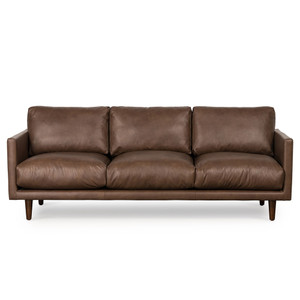 Casper 3 Seat Sofa - Brown Leather by Maison Living