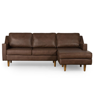 Tait Chaise Sofa - Brown Leather by Maison Living