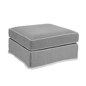 Portsea Ottoman COVER ONLY - Grey by Maison Living