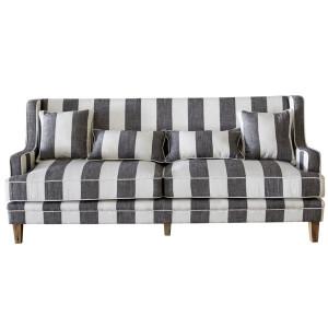 Byron 3 Seat Sofa - Grey & Cream Stripe by Maison Living