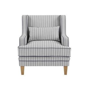 Byron Armchair - Blue/White Pin Stripe by Maison Living