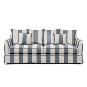 Portsea 3 Seat Sofa - Denim & Cream Stripe by Maison Living