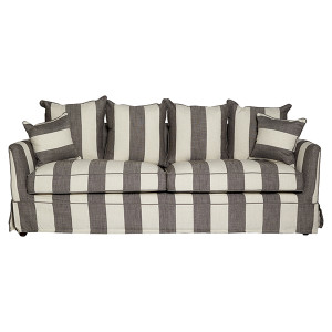 Portsea 3 Seat Sofa - Grey & Cream Stripe by Maison Living