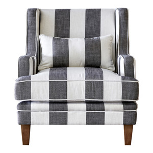 Bronte Armchair - Grey & Cream Stripe by Maison Living