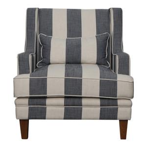 Bronte Armchair - Denim & Cream Stripe by Maison Living