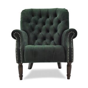 Chester Tufted Armchair - Green Velvet by Maison Living