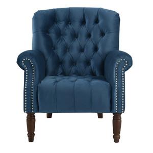 Chester Tufted Armchair - Blue Velvet by Maison Living