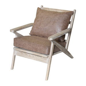 Hanko Armchair - Brown Cushions by Maison Living