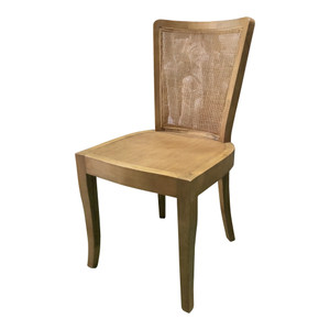 Curved Rattan Back Dining Chair by Maison Living