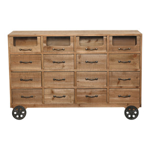 Mattituck 16 Drawer Mobile Console by Maison Living