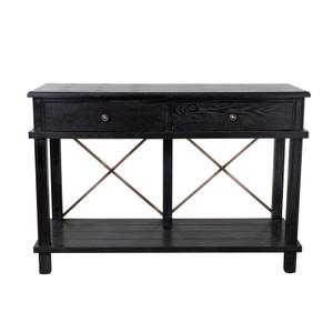 Aix 2 Drawer Console Table - Black by Maison Living