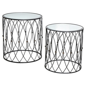 Tangier Iron Side Tables Set/2 by Maison Living