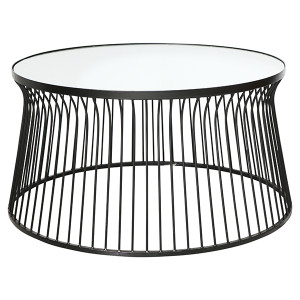Malmo Round Coffee Table - Black by Maison Living