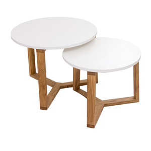 Malmo Nesting Side Table - White Set/2 by Maison Living