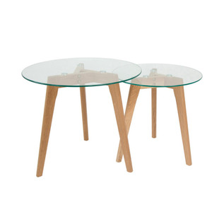 Malmo Nesting Side Table - Glass Set/2 by Maison Living