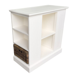 Hamptons Small Shelf Unit w/Rattan Baskets by Maison Living