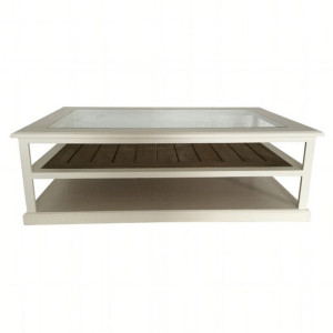 Byron Coffee Table w/ Wood Slats by Maison Living