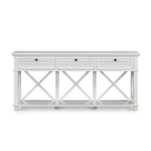Hamptons Shutter 3 Draw Console White Grain by Maison Living