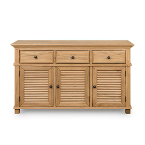 Hamptons Shutter 3 Door Buffet Natural by Maison Living