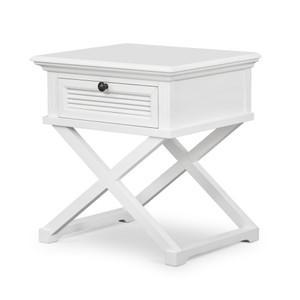 Hamptons Shutter Side Table White by Maison Living