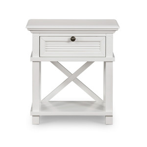 Hamptons Shutter Bedside Table White by Maison Living