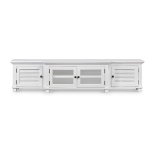 Hamptons Shutter TV Media Unit White by Maison Living
