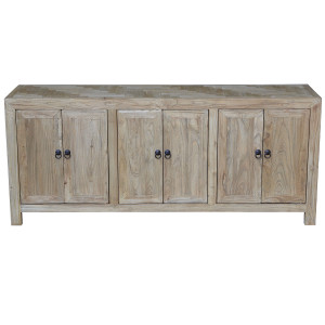 Seville 6 Door Parquet Buffet - Natural