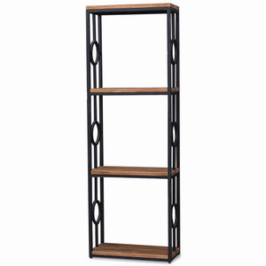 Iron Bookcase one Column - Size: 200H x 69W x 33D (cm)