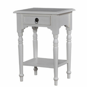 Tucker Side Table w/Shelf - Size: 72H x 50W x 40D (cm)