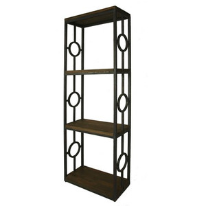 Iron Bookcase one Column - Size: 200H x 68W x 32D (cm)
